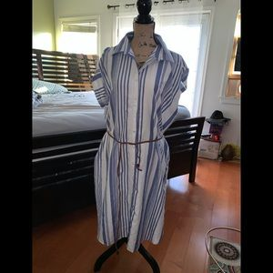 New with tags striped dress with pockets